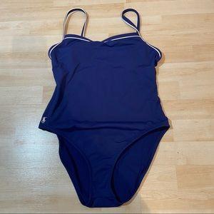 Ralph Lauren navy one piece swimsuit